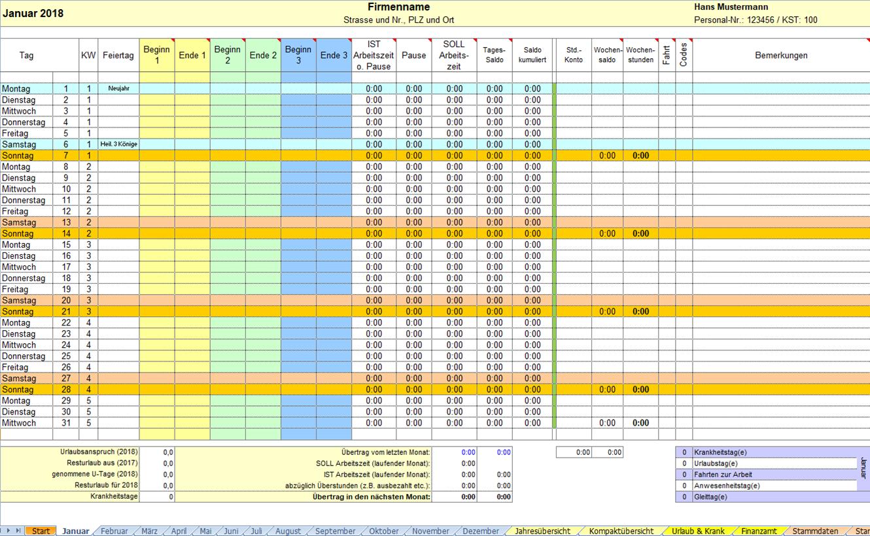 Activity-Report - Ihre Arbeitszeiterfassung